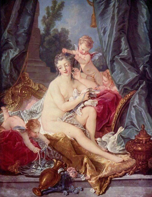 Fig. 2: François Boucher, <em>The Toilet of Venus</em> (1751), in New York, Metropolitan Museum of Art