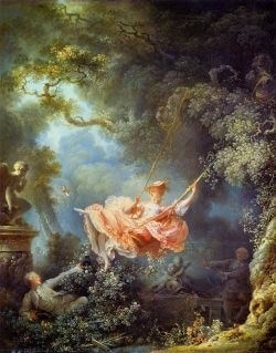 Fig. 3: Jean-Honoré Fragonard, <em>The Swing </em> (1767), in London, Wallace Collection