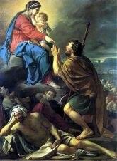 Fig. 4: Jacques-Louis David, <em>Saint Roch and the Virgin</em> (1780), in Marseille, Musée des Beaux-Arts