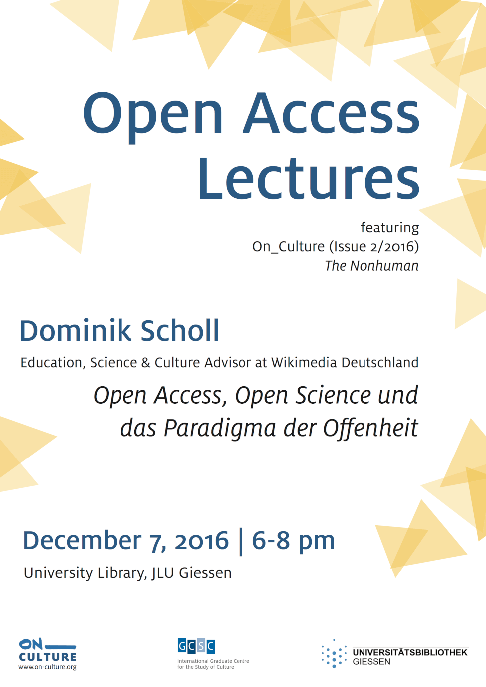 Open Access Lectures 2 (feat  On_Culture Issue 2 'The